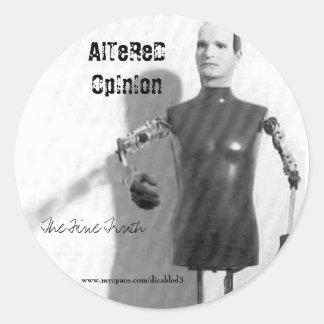 vicodin, The Fine Truth, AlTeReD OpInIon, www.m... Classic Round Sticker