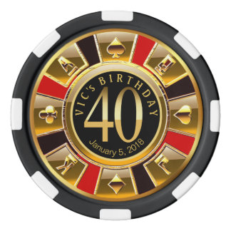 Vic's 40th Bday Poker Chips