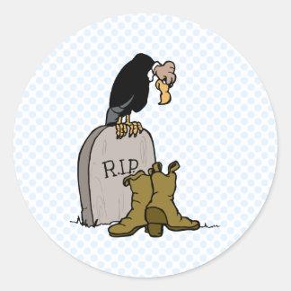 Victimus Vulture Classic Round Sticker