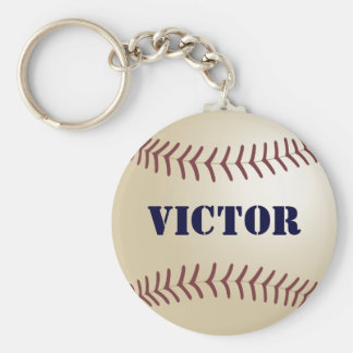 Victor Baseball Keychain by 369MyName