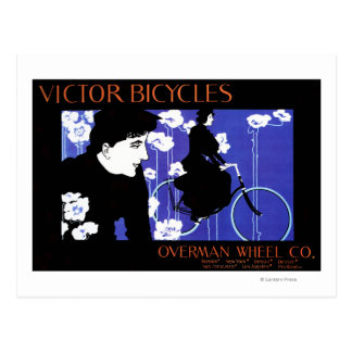 Victor Bicycles Overman Wheel Promo Poster Postcard