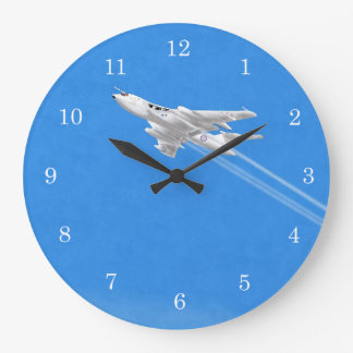 Victor Bomber Anti Flash White Large Clock