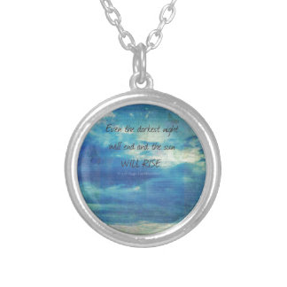 Victor Hugo, Les Miserables quote  inspirational Silver Plated Necklace