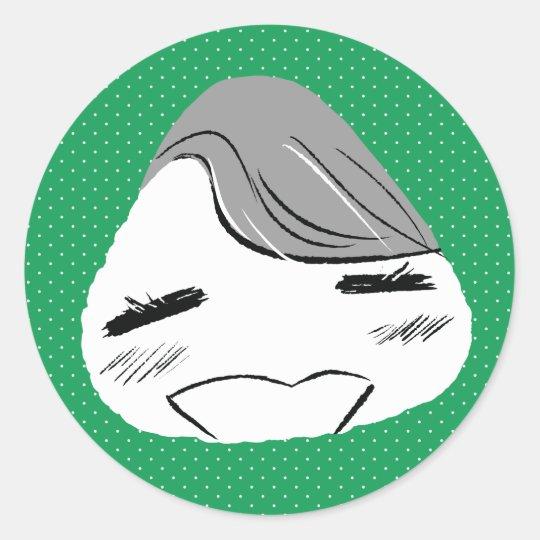 Victor Onigiri Classic Round Sticker