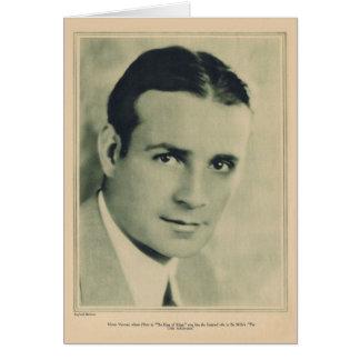 Victor Varconi 1927 vintage portrait card