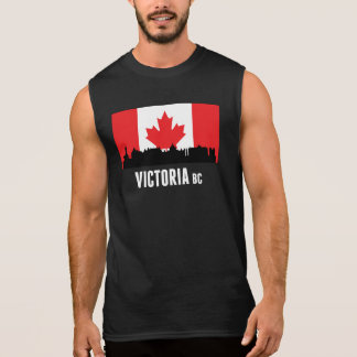 Victoria BC Canadian Flag Sleeveless Shirt
