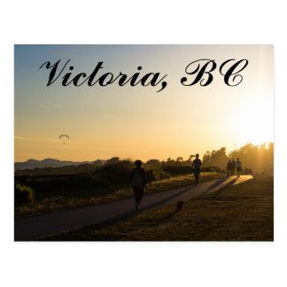 Victoria BC Sunset Postcard