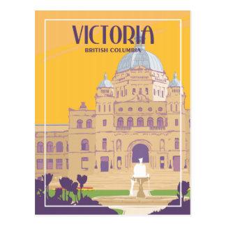 Victoria BC - Vintage Travel Postcard