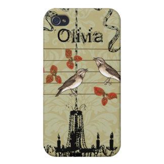 Victoria Bird Cage Vintage Damask iPhone Case iPhone 4 Cases