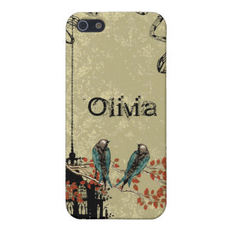 Victoria Bird Cage Vintage Damask iPhone Case iPhone 5/5S Covers