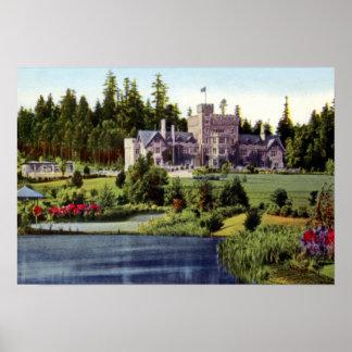 Victoria British Columbia Canada Hatley Castle Poster