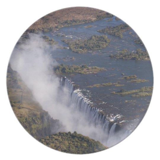 Victoria Falls, Zambesi River, Zambia - Zimbabwe Plate