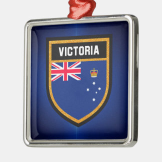 Victoria Flag Metal Ornament