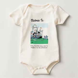 Victoria Is: c - by harrop Baby Bodysuit