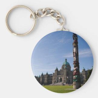 Victoria Parliament Building 1 Basic Round Button Keychain