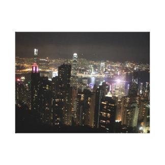 Victoria Peak Hong Kong at Night Canvas Print