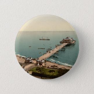 Victoria Pier, Folkestone, Kent, England 2 Inch Round Button