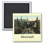 Victoria Square, Montreal Vintage Square Magnet