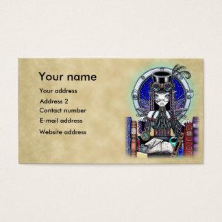 """""""Victoria"""" Steam Punk Faerie Art Business Cards"""