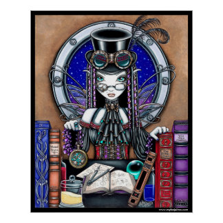 Victoria Steam Punk Faerie Poster
