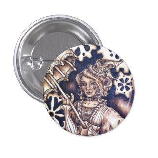 Victoria Steampunk Button Pin