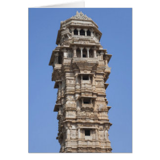 Victoria Tower in Chittorgarh Fort, India Card