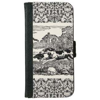 Victorian 1800s book illustration pet print iPhone 6 wallet case