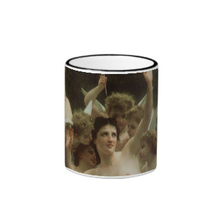 Victorian Angel Art, Wasp's Nest by Bouguereau Ringer Coffee Mug