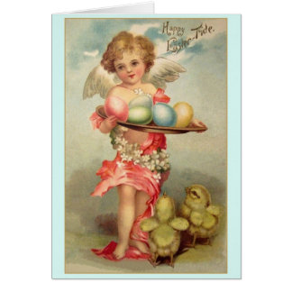 Victorian Angel Easter Greeting Card