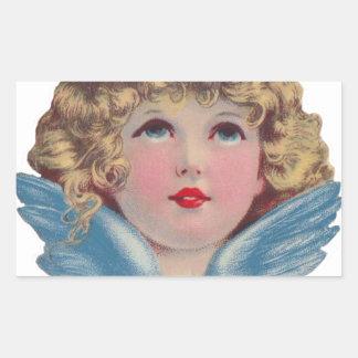 Victorian Angel in Blue Sticker
