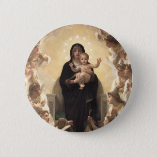 Victorian Angels, Regina Angelorum by Bouguereau 2 Inch Round Button