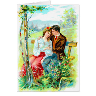 Victorian Anniversary Greeting Car Card