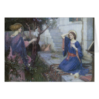 Victorian Art, Annunciation by JW Waterhouse Card
