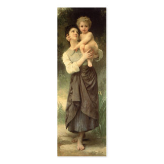 Victorian Art, Brother and Sister by Bouguereau Pack Of Skinny Business Cards
