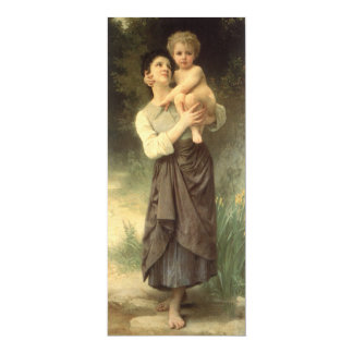 Victorian Art, Brother and Sister by Bouguereau Card