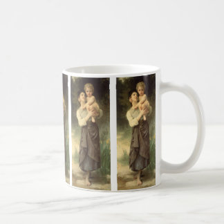 Victorian Art, Brother and Sister by Bouguereau Coffee Mug