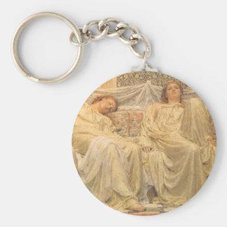 Victorian Art, Dreamers by Albert Joseph Moore Basic Round Button Keychain