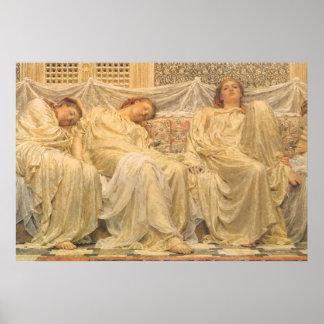 Victorian Art, Dreamers by Albert Joseph Moore Poster