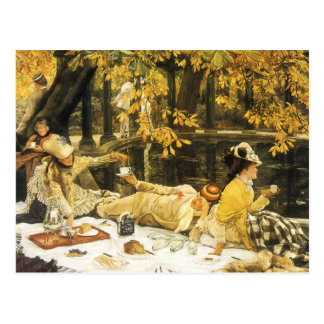 Victorian Art, Holyday, The Picnic by James Tissot Postcard