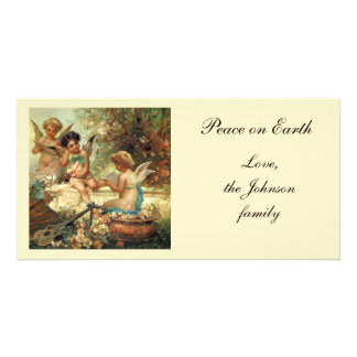 Victorian Art, Musician Angels by Hans Zatzka Customized Photo Card