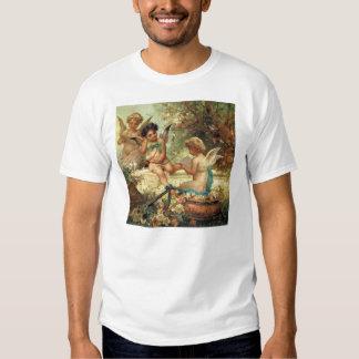 Victorian Art, Musician Angels by Hans Zatzka Tee Shirt