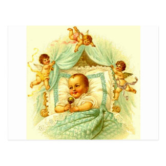 Victorian Baby and Cherubs Vintage Postcard Art