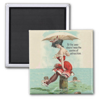 Victorian Bathing Beauty Magnet