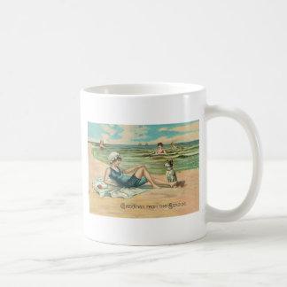 Victorian Beach Swimsuit Girl Coffee Mug