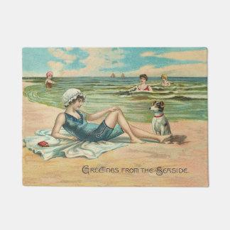 Victorian Beach Swimsuit Girl Doormat