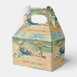 Victorian Beach Swimsuit Girl Favor Box