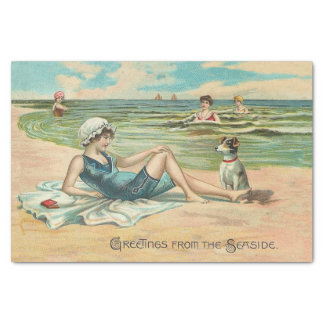 Victorian Beach Swimsuit Girl Tissue Paper