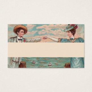 Victorian Beach Wedding Couple Business Card