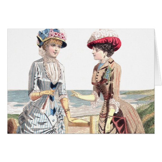 Victorian Beauties at the Beach - Greeting Card
