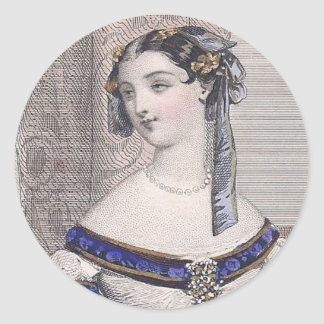Victorian Beauty by Jules David - Gorgeous Face! Classic Round Sticker